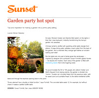 Sunset Magazine | Garden Party Hot Spot